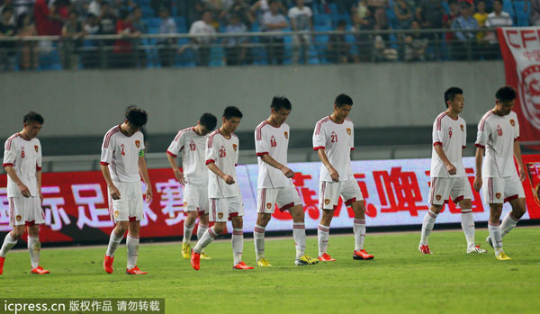 china soccer defeat