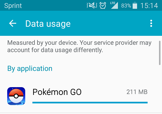 pokemon data usage