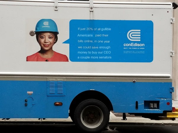 ConEdison being honest about paper bills