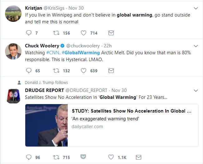twitter global warming