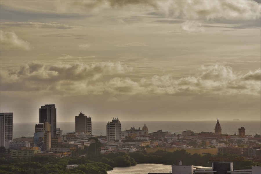 Cartagena clouds