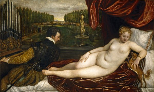 titian venus and music
